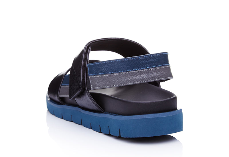 Colossal Leather Buckle Double Strap Sandals