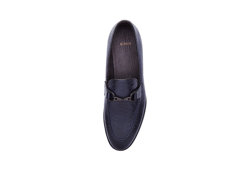 Casval Croco Print Horsebit Loafers
