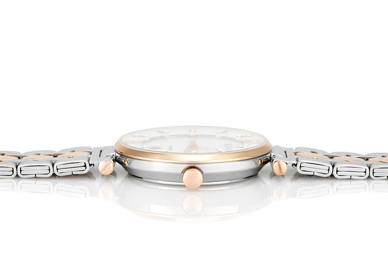 Rose Gold And White Thea Mother of Pearl Watch
