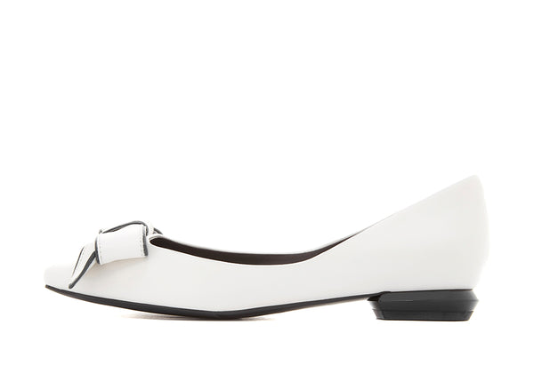Henriette Flat Pump With Bow