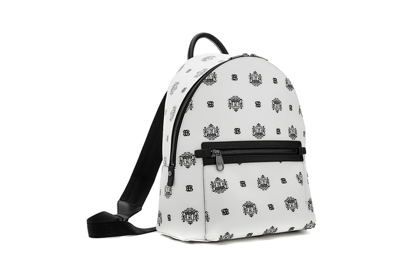 Ariel Backpack with Twin Lion Shield Motif L