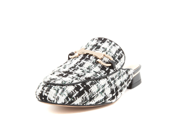 Halina Abstract Flat Mule