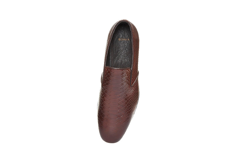 Sherman Croco-Printed Full Brogues