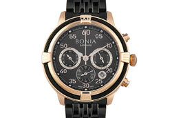 Black And Rose Gold Jodi Chronograph Ladies' Watch