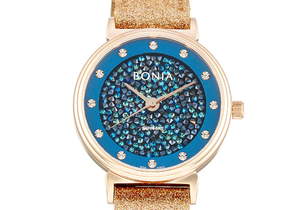 Rose Gold And Blue Dea Ladies' Watch