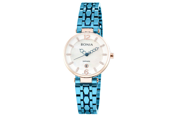 Ice Blue And Rose Gold Thea Mother of Pearl Watch