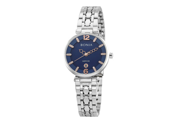 Silver And Blue Thea Mother of Pearl Watch