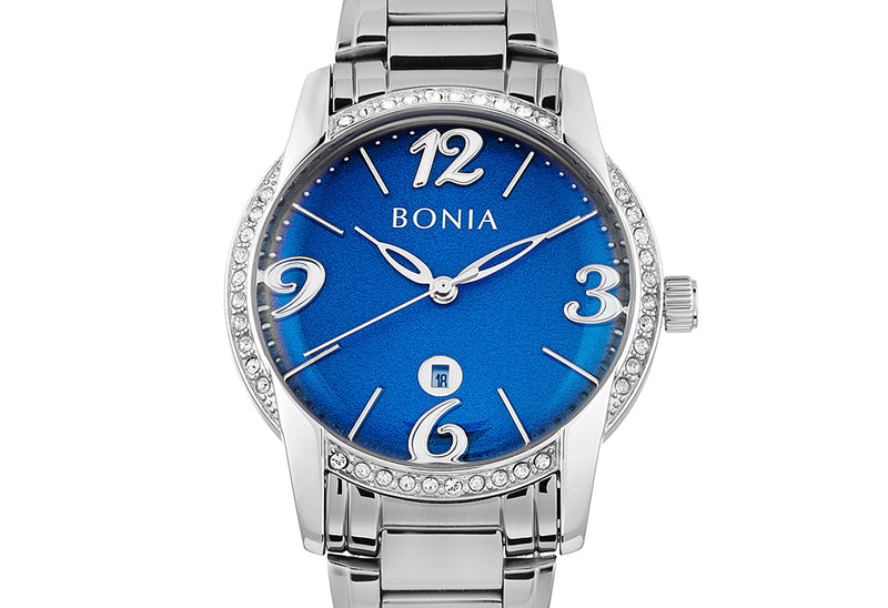 Silver And Dark Blue Karin Ladies' Watch