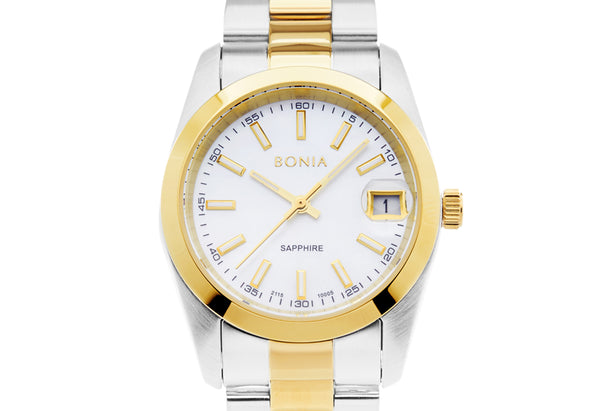 Gold & Silver Minimal Classic Watch M