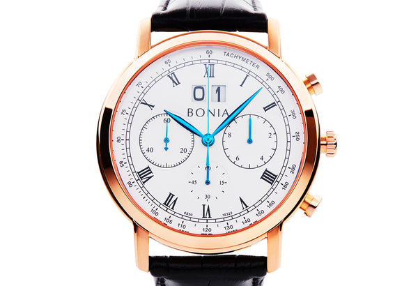 Rosegold and White Chevalier Watch