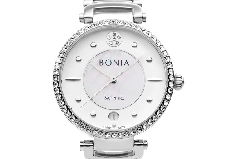 Silver & White Ragazza Watch