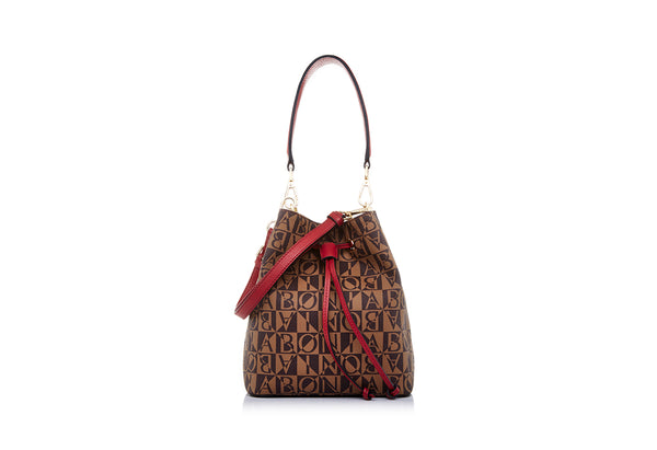 Aria Monogram Bucket Bag S