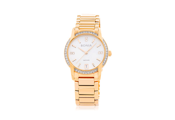Gold Dazzle Stainless Steel Watch