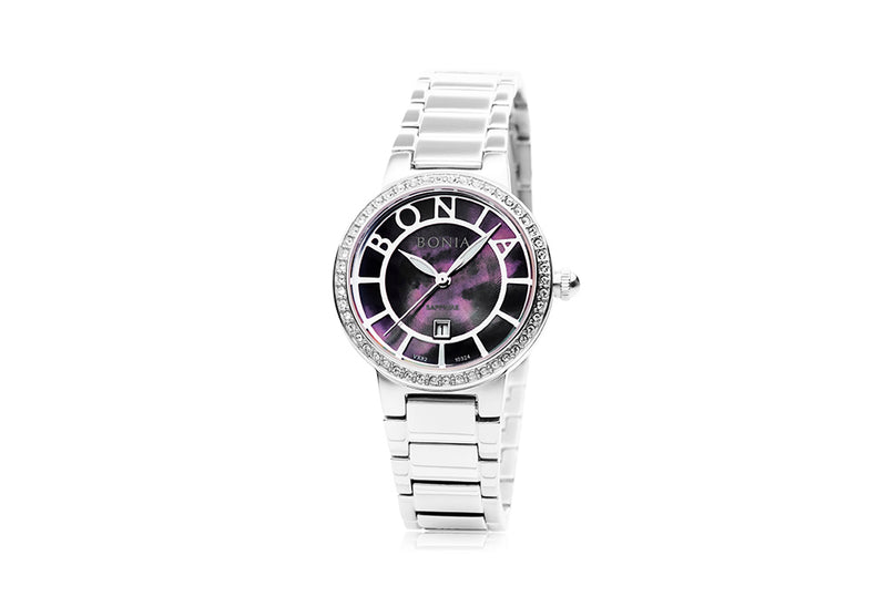 Silver and Black Radiance Watch