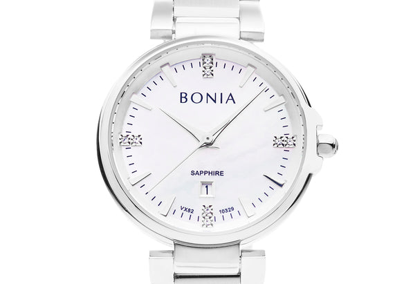 Silver & White Noela Watch