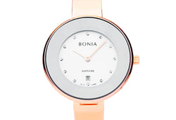 Rose Gold & Silver Sunray Bellance Ladies' Watch