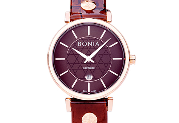 Rose Gold & Brown Montay Ladies' Watch