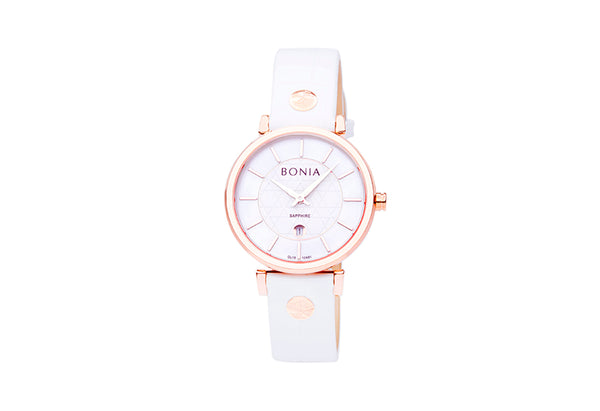 Rose Gold & White Montay Ladies' Watch