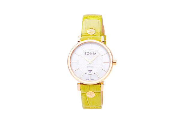 Rose Gold & Grass Montay Ladies' Watch