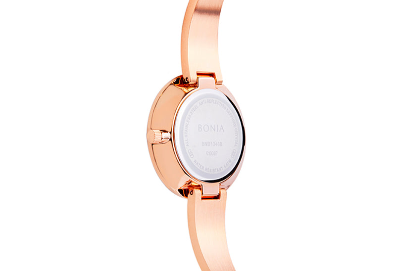 Rose Gold & Blue Sunray Bellance Ladies' Watch