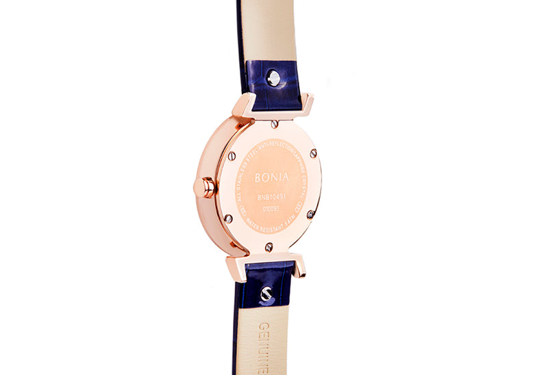 Rose Gold & Blue Montay Ladies' Watch