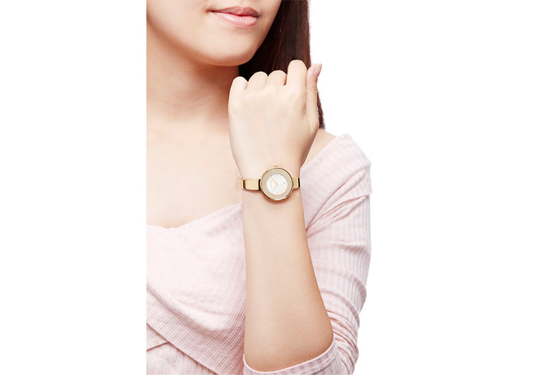 Gold & Champagne Sunray Bellance Ladies' Watch