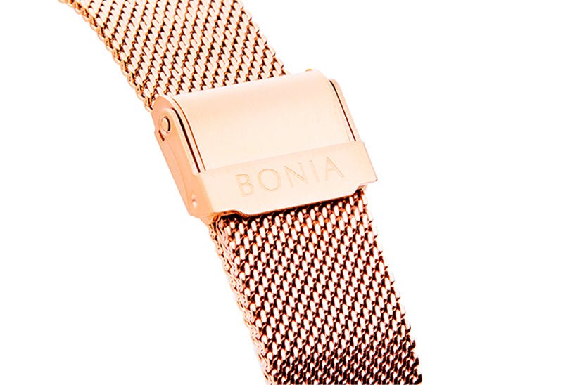 Rose Gold with Silver Sunray Carmel Men's Watch