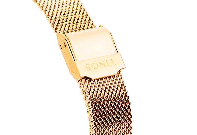 Gold with Silver Sunray Carmel Ladies' Watch