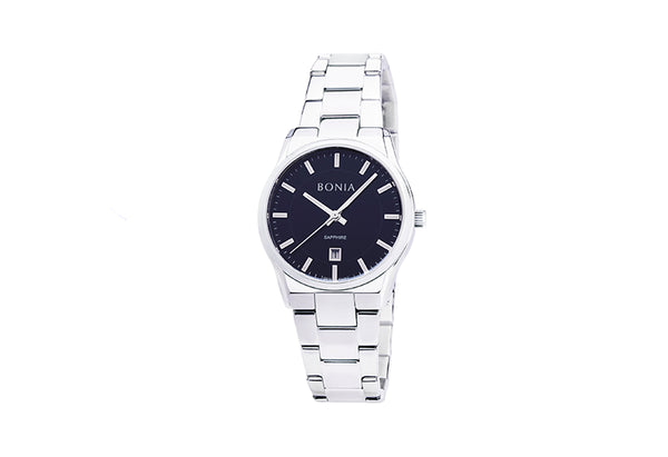 Silver & Black Sigma Ladies' Watch