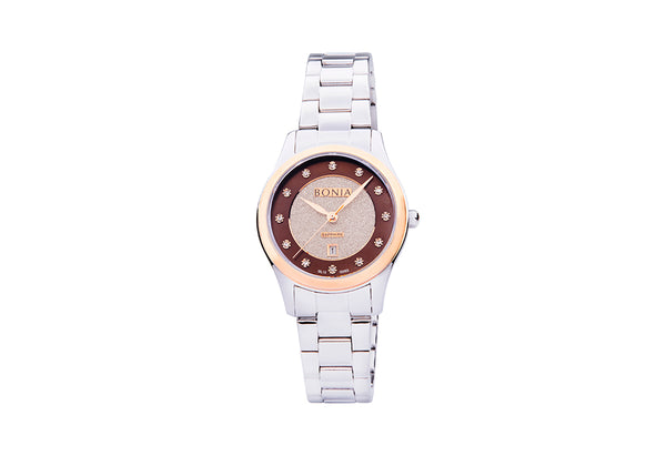 Rose Gold with Silver Brown Pasquel Ladies' Watch
