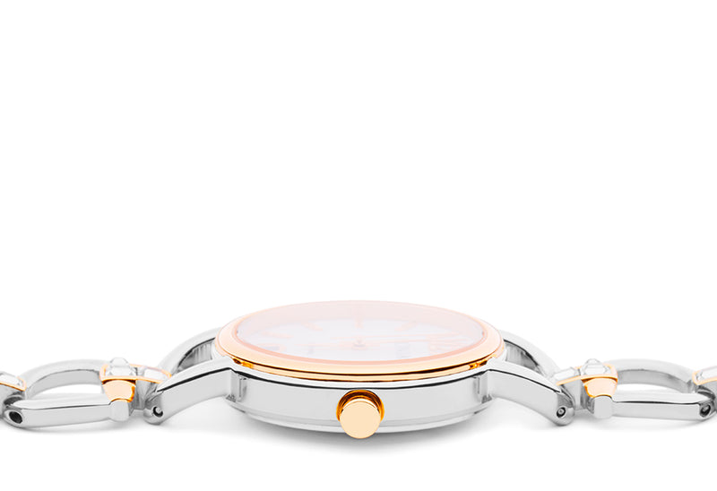 Silver and Rose Gold Stefania Watch