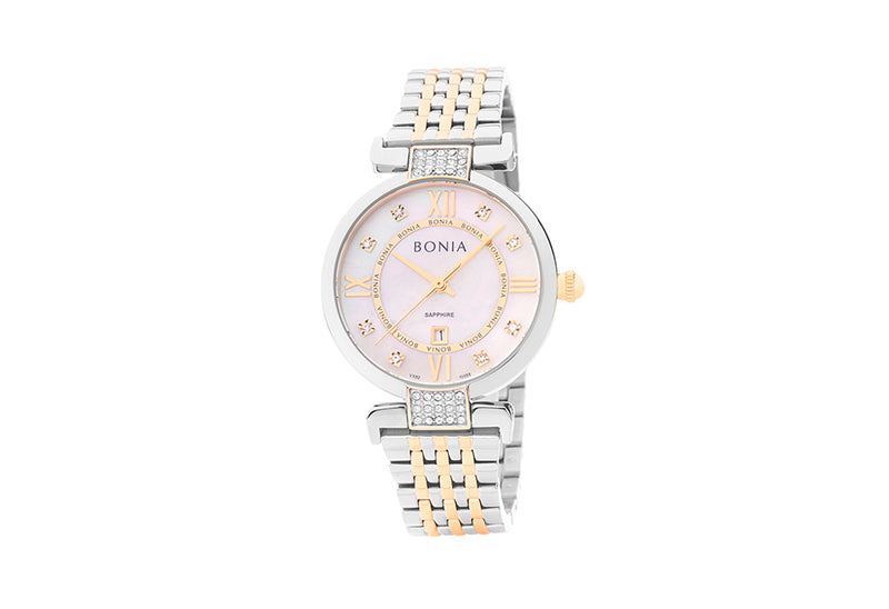 Silver and Rose Gold Dianora Watch