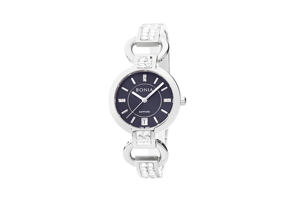 Silver and Black Suzy Watch