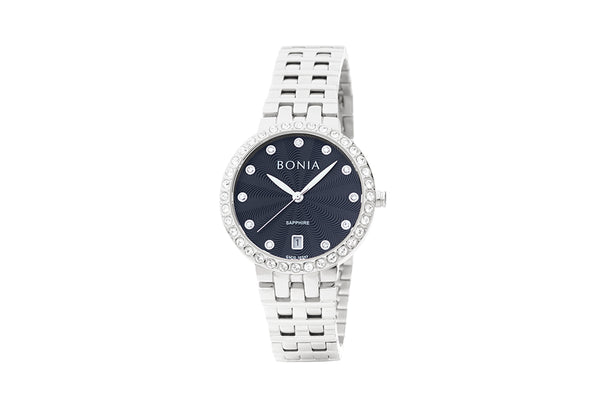 Silver and Black Cheryl Watch