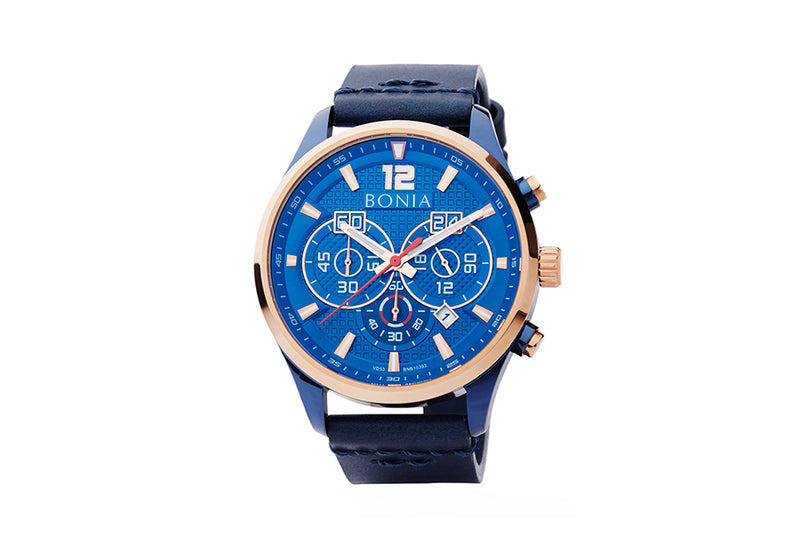 Rose Gold and Blue Ventura Watch