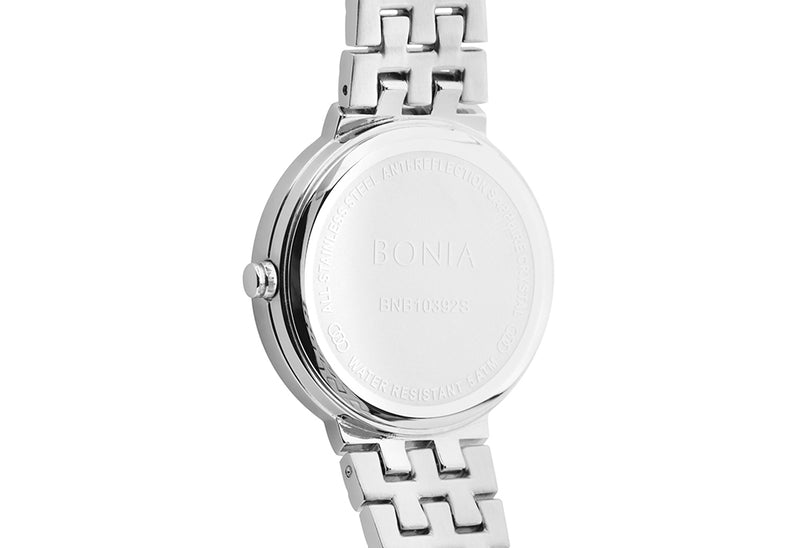 Silver and White Cheryl Watch