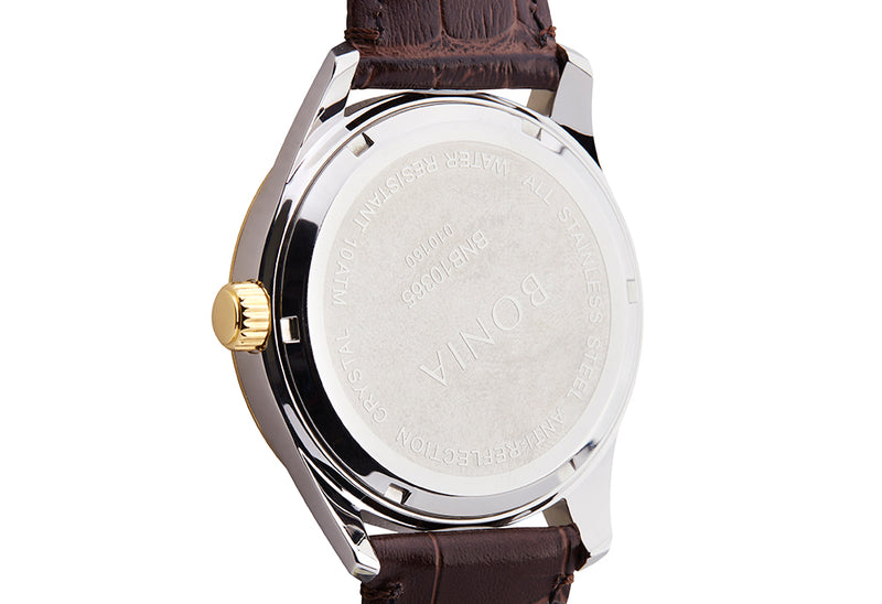 Gold and Brown Maestro Watch