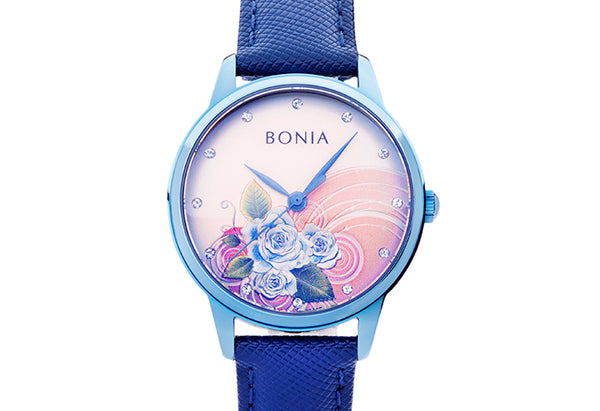Ice Blue Rose Ladies' Watch