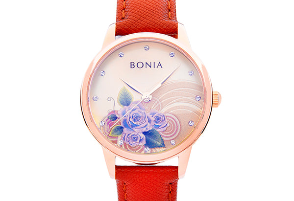 Rose Gold & Brown Rose Ladies' Watch
