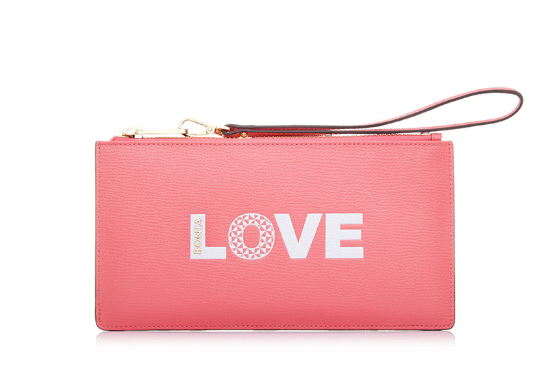 Adoro Slogan Slim Zipper Pouch