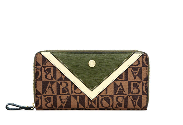 Sienna Monogram Zipper Wallet