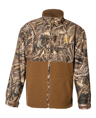 Camouflage Back Water Full Zip Fleece