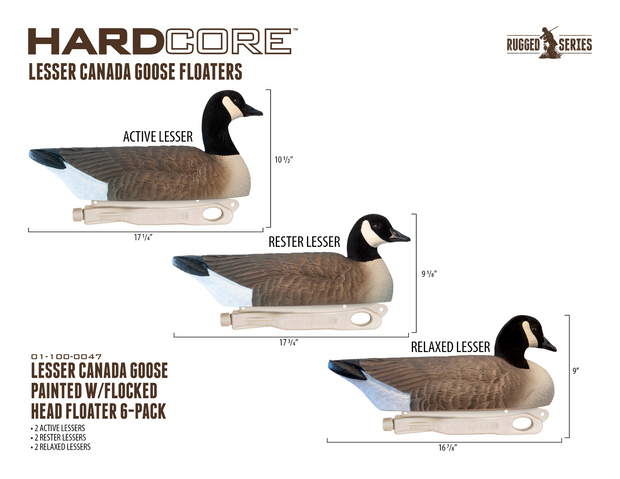 Rugged Series Lesser Canada Floaters - Flocked Head