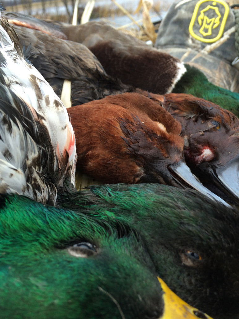 duck hunting add demension to your duck decoy spread with jerk rigs | Hard Core Brands
