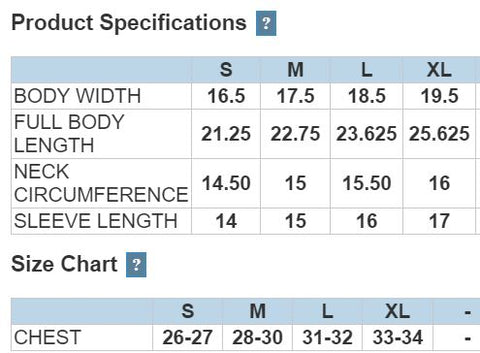 88181 Youth Core Drifit Sizing Chart