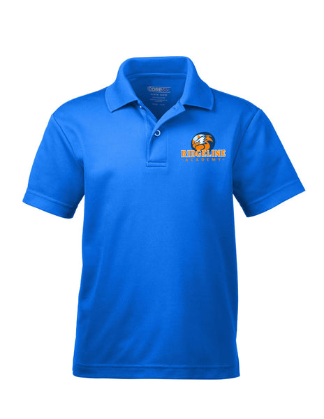 Youth Ridgeline Embroider Logo - Core Drifit Royal Blue Polo