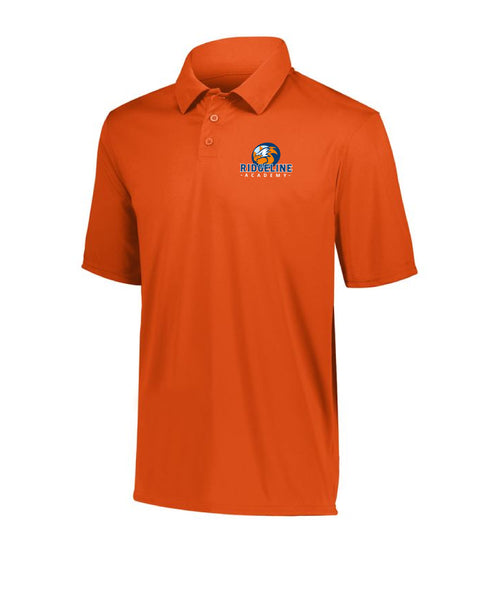 Youth Ridgeline Embroider Logo - Vital Orange Polo - Drifit 100% Polyester