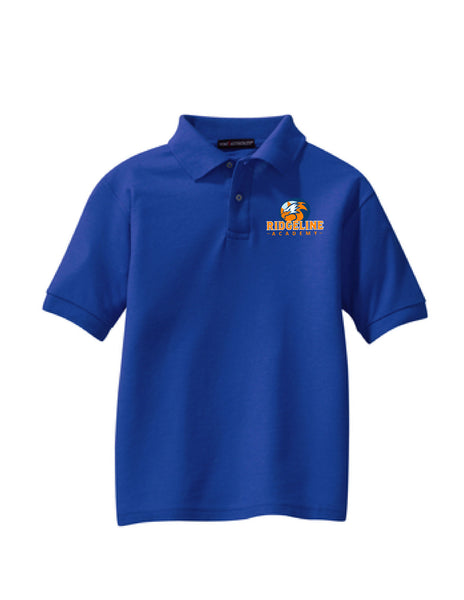 Youth Ridgeline - Silk touch Blend Royal Blue Polo