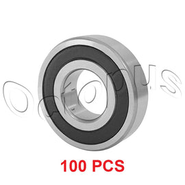 100 Pcs Premium 6000 2RS ABEC3 Rubber Sealed Deep Groove Ball Bearing 10x26x8mm