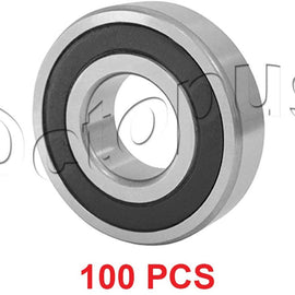 100 Pcs Premium 6206 2RS ABEC3 Rubber Sealed Deep Groove Ball Bearing 30x62x16mm